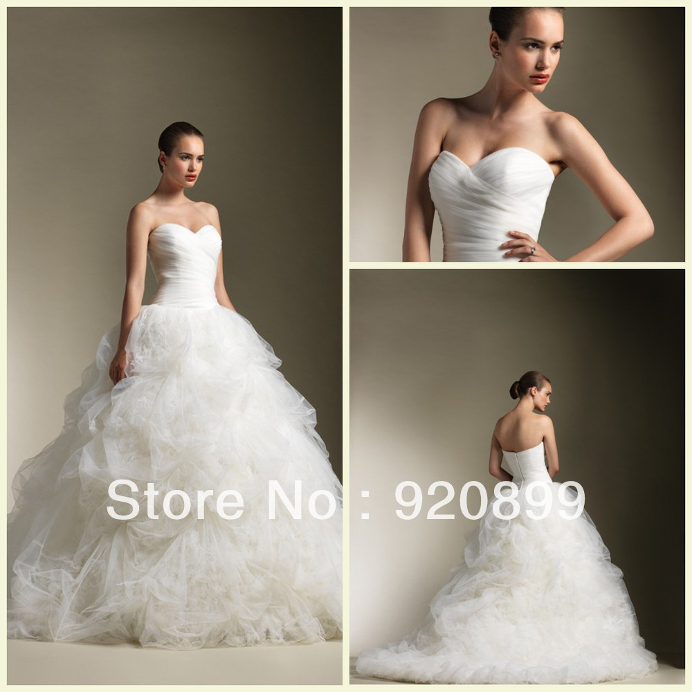 Beautiful Sweetheart Ruched Tulle Bodice Drop Waist With