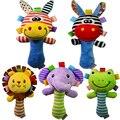 0-12 meses kids toys plush macio bebe chocalho do bebê cama sino squeaker brinquedo do bebê educacional mobie musical toys para presente de ano novo
