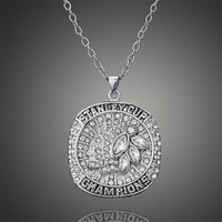 2015 Stanley Cup Chicago Blackhawks Men Necklace Fashion Hockey Sports Jewelry Charms D00341