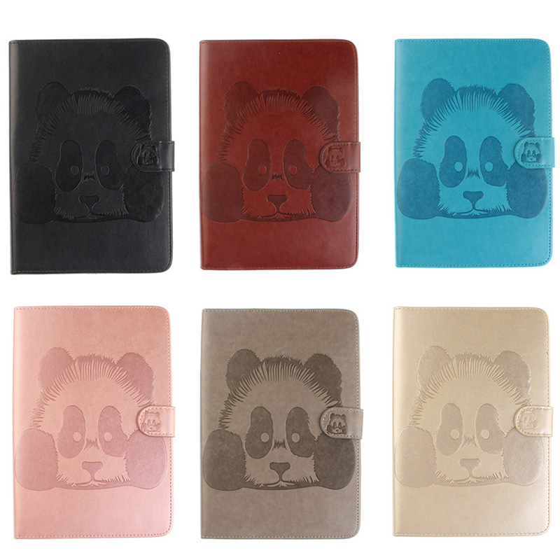 DEEVOLPO Panda Pattern Magnetic PU Leather Flip Wallet Case For iPad mini 1 2 3 mini1 mini2 mini3 Cover Coque Card Holder DP00E
