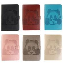 Выбивает Panda Pattern Магнитный ИСКУССТВЕННАЯ Кожа Флип Бумажник Случае Для iPad мини 1 2 3 mini1 mini2 mini3 Крышка Коке С Карты держатель