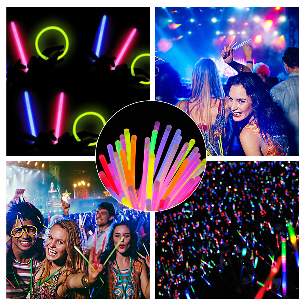 7 Pieces Glow Sticks Connectors Party Set Accessories or Dance Raves or Party