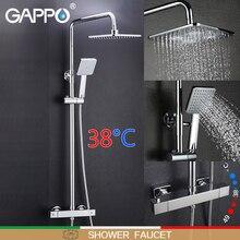 GAPPO Душевая система ванная комната термостатный смеситель кран Водопад настенное крепление термостатический душевой смеситель