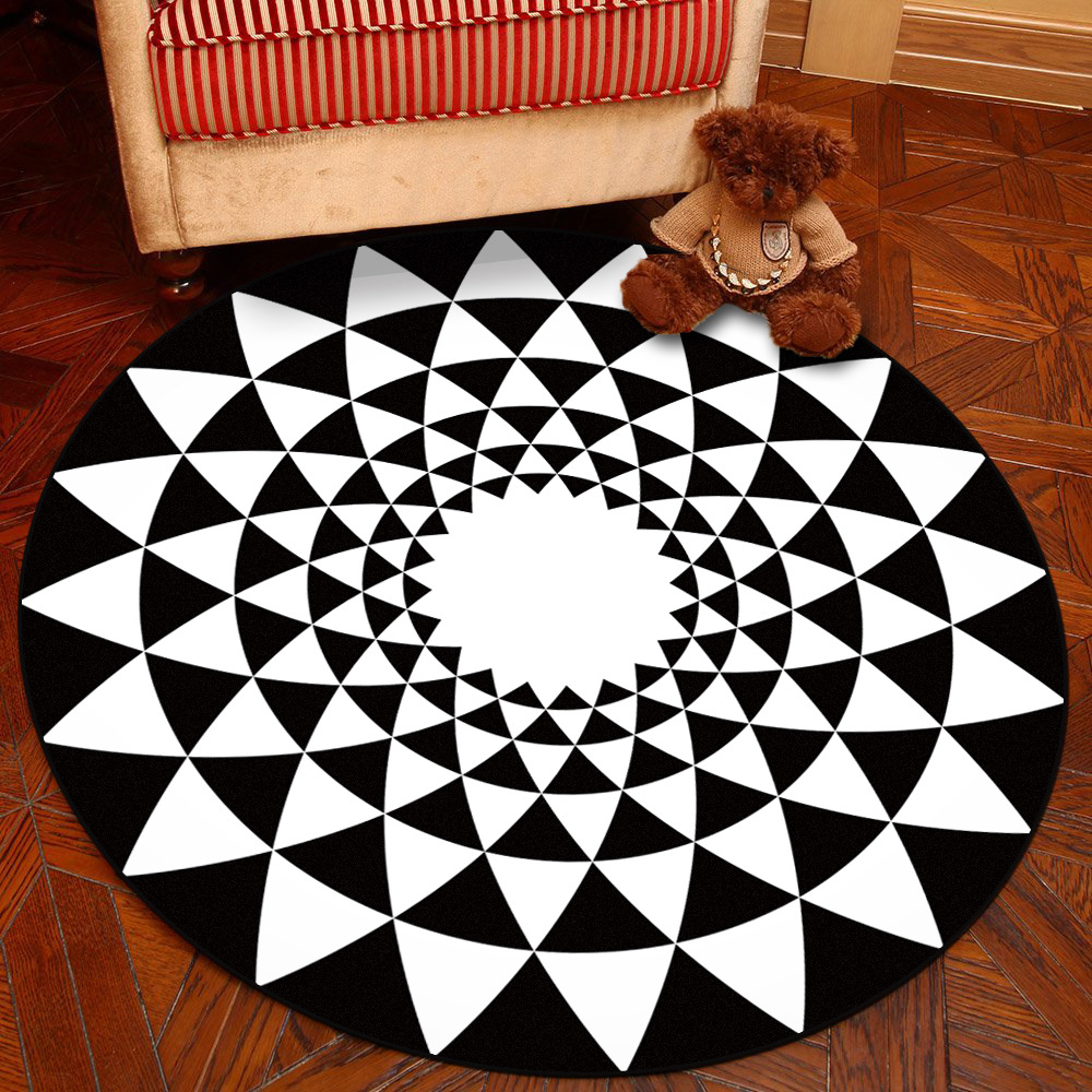 Zeegle Nordic Style Round Carpet For Living Room Coffee Table Room Bedroom Rug Soft Kids Play Mat Computer Swivel Chair Cushion