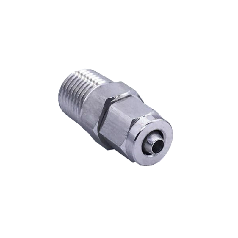 Stainless Steel SS 304 quick connectors Pipe Fittings Threaded Male Connector 12/14/16mm OD X 1/8/1/4 3/8 /1/2 BSP Thread