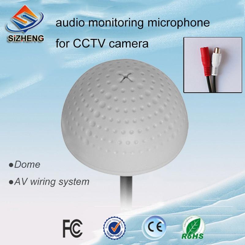 SIZHENG COTT-QD20S CCTV monitor de som do microfone pick-up dispositivo de escuta de áudio para câmera de vigilância