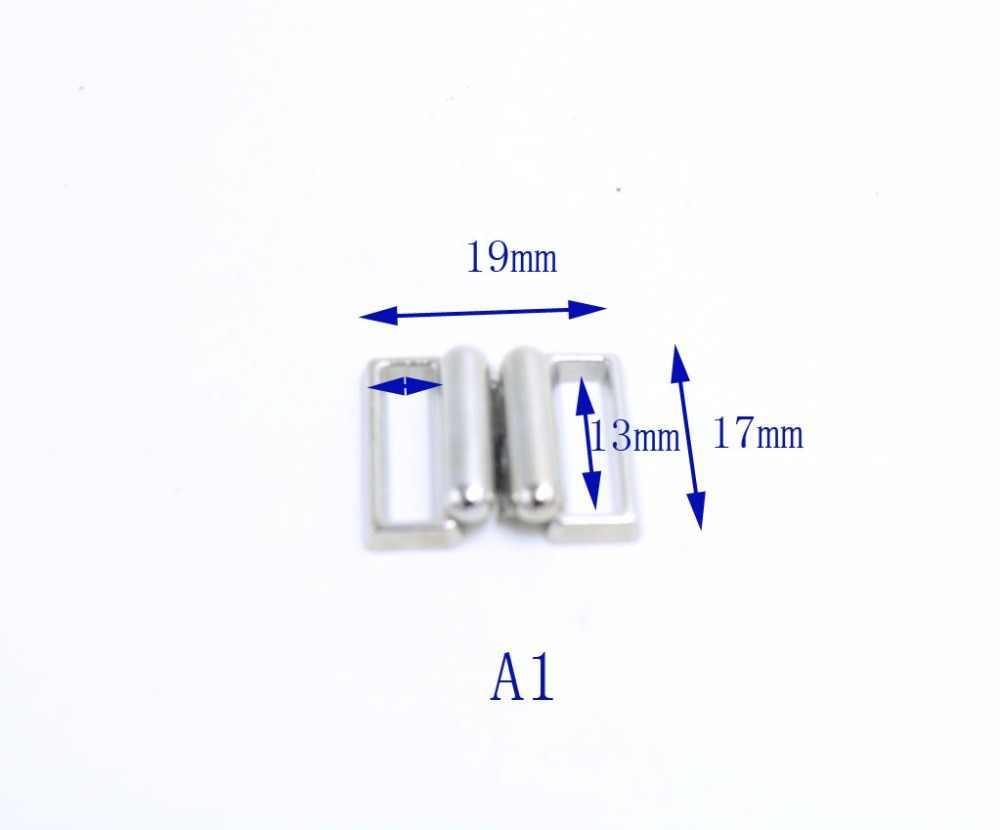 20 jogos/lote 13mm/22mm/31 m Fita Ofício Retângulo de metal prateado Fecho Hook & Fecho Da Cintura extensores Costura Em Roupas Clipe Sutiã Ganchos