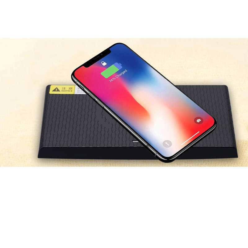 Car QI wireless charging phone charger center console charging case panel for iPhone 8 X XS For Jaguar XF XE XFL F PACE in Stowing Tidying from Automobiles Motorcycles