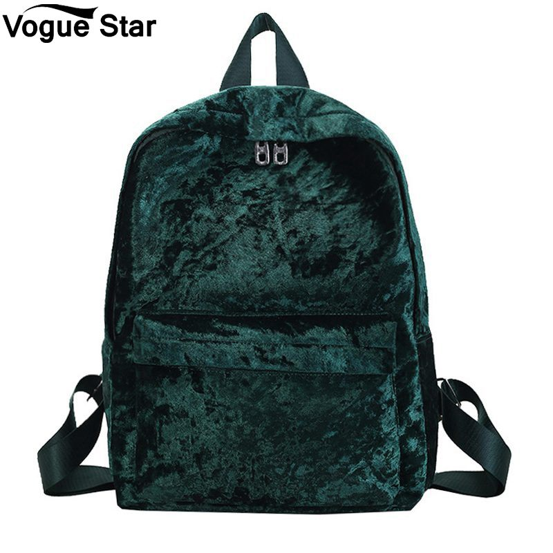 Large Capacity Bag For Teenage Girls Female Rucksack Student School Storage Bag Mochila Fashion Velvet Women Backpack M22