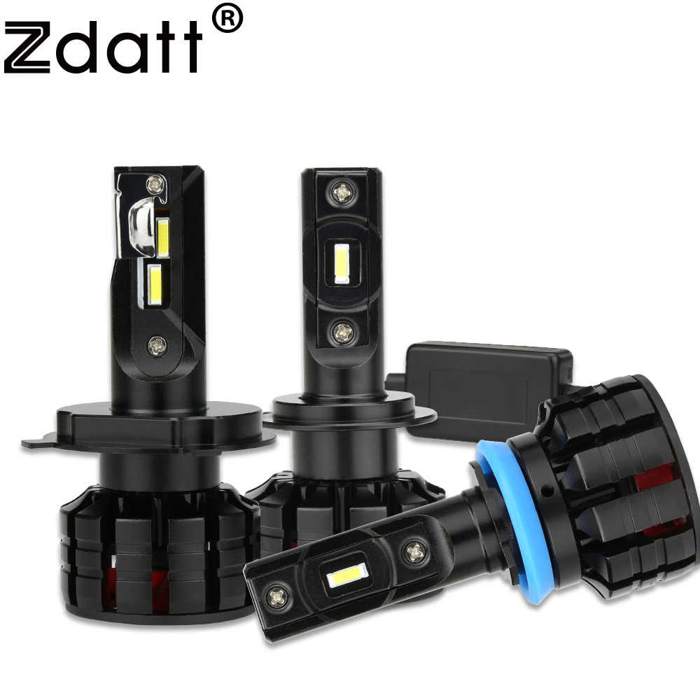 Zdatt 2X Car Light H4 H1 H7 Led Bulb Canbus H8 H9 H11 9005 HB3 9006 HB4 Auto Lamp Headlights 100W 12000LM 12V 6000K Automobiles