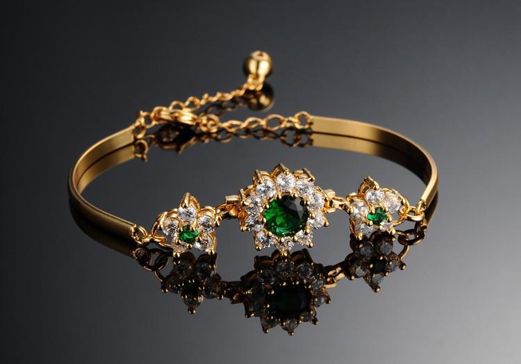 Купить высококачественные модные изысканные блестящие золотые браслеты