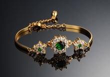 Высококачественные модные изысканные блестящие золотые браслеты