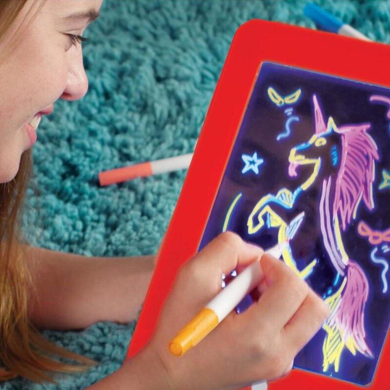 3d magia desenho almofada led placa de
