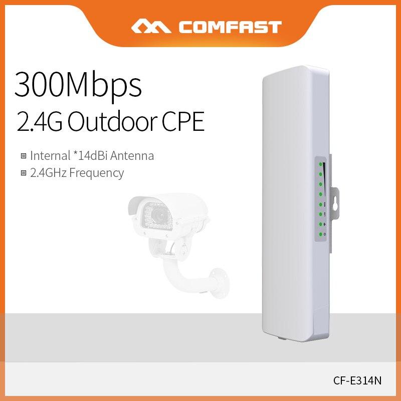 Comfast Outdoor CPE Bridge 300Mbps Long Range Signal Booster Extender 3km 2.4G WI-FI Antenna 2*14dbi Nanostation CF-E314NV2