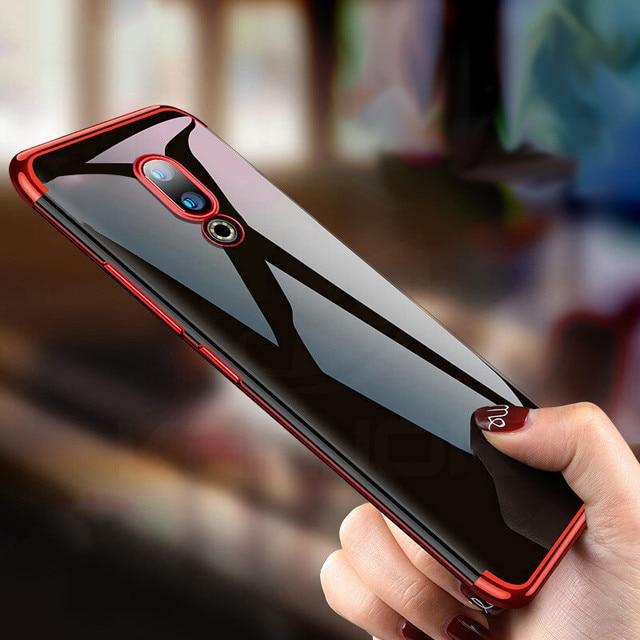 For Meizu 16th case Silicone plating TPU bumper on Meizu 16th case protector back cover for Meizu 16th/16 th armor