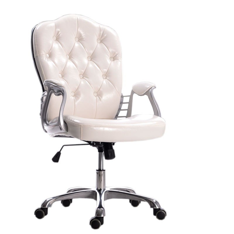 European PU Leather Office Chair Executive Lift Swivel Leisure Chair 240337 ergonomic chair quality pu wheel household office chair computer chair 3d thick cushion high breathable mesh