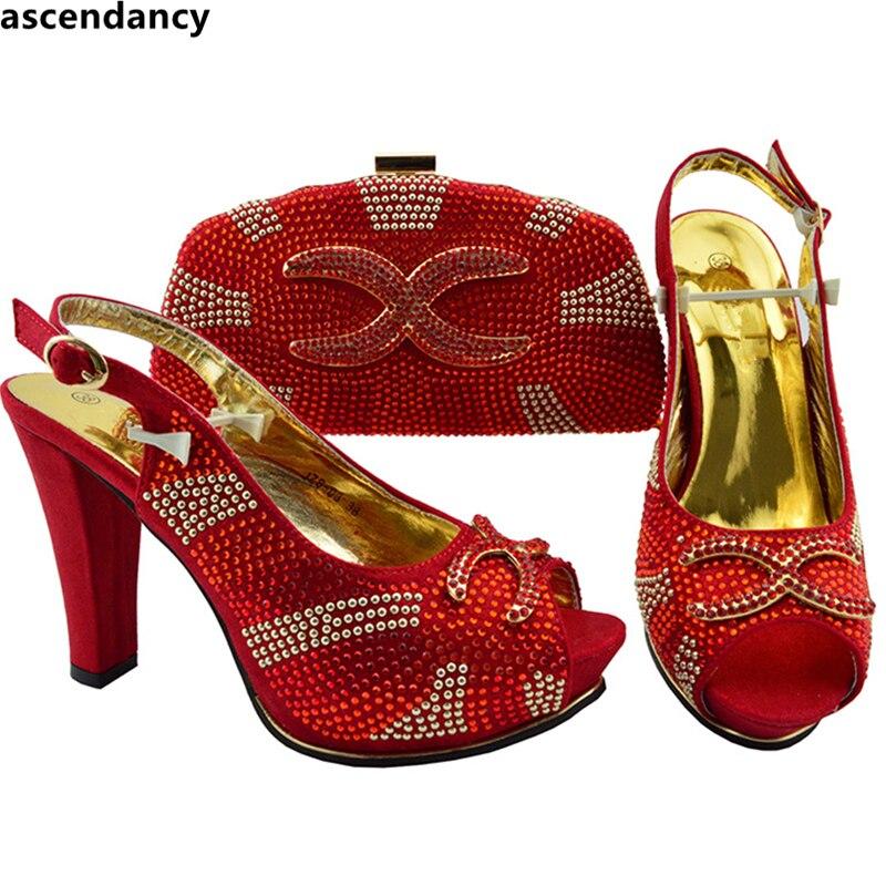 Italia Partido Nigeria De Bolso Bolsa Y Boda Teal Zapatos Rhinestone rojo fuchsia Nueva Llegada oro A La Juego Para Italiano El verde plata Zqaw6z4nW