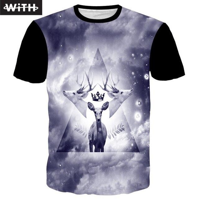 New Men's Hot Sale 2016 Summer 3d T-shirt Tattoo Girl Elk Nicolas Cage Dragon Ball T Shirt  Women Couple Clothing YZ772