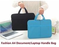 Francese classica A4 doppia cerniera portfilio con manico di modo sacchetto di affari del computer portatile cartella di file breve FPDB-460
