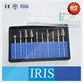 10 peças/kit populares hp cortador de carboneto de tungstênio burs polidor de kits de peças de mão moedor de liga de jóias de metal polimento