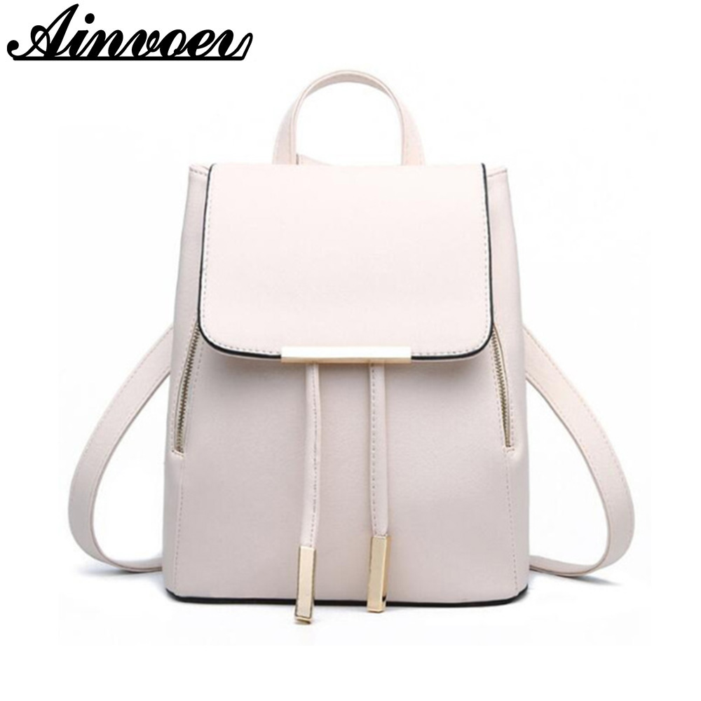 Ainvoev women backpack girls school bags large capacity book bag candy color women bags hot sell knapsack double shoulder bags advocator travel bag backpack with rain cover shoe pocket rucksack bags men school backpack women large capacity knapsack