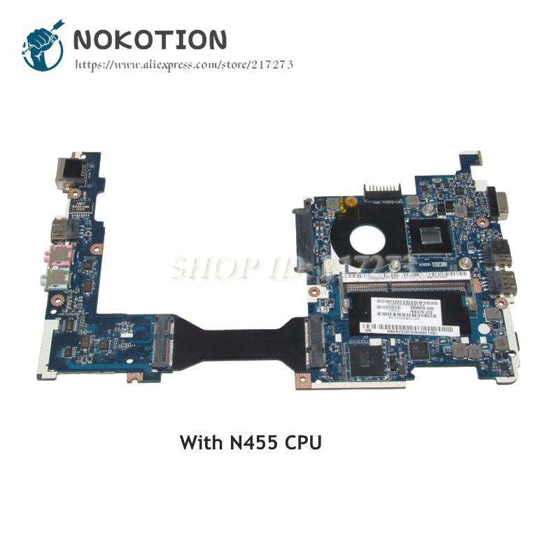 NOKOTION For Acer aspire One AO260 LT23 Laptop Motherboard MBSBY02001 NAV80 LA-6222P MAIN BOARD DDR3 N455 CPUNOKOTION For Acer aspire One AO260 LT23 Laptop Motherboard MBSBY02001 NAV80 LA-6222P MAIN BOARD DDR3 N455 CPU