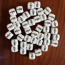 10 шт./партия 16*16 мм белый фракционный номер Веселые кости обучающая игра аксессуар