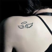 HC1034 Harajuku Flash Tattoo Sex Products Waterproof Fake Tattoo Women Sexy Shoulder Angel Wings Temporary Tattoo Sticker