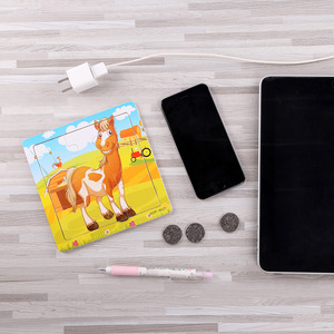 Image 5 - جديد وصول خشبية 9 قطع من الكرتون الحيوانات لغز التعليم في مرحلة الطفولة المبكرة ألعاب خشبية LL97
