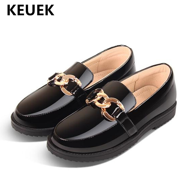 New Spring/Autumn Black Leather Shoes Children Loafers Girls Princess Dress School Moccasins Low-heeled Baby Toddler Kids 041New Spring/Autumn Black Leather Shoes Children Loafers Girls Princess Dress School Moccasins Low-heeled Baby Toddler Kids 041