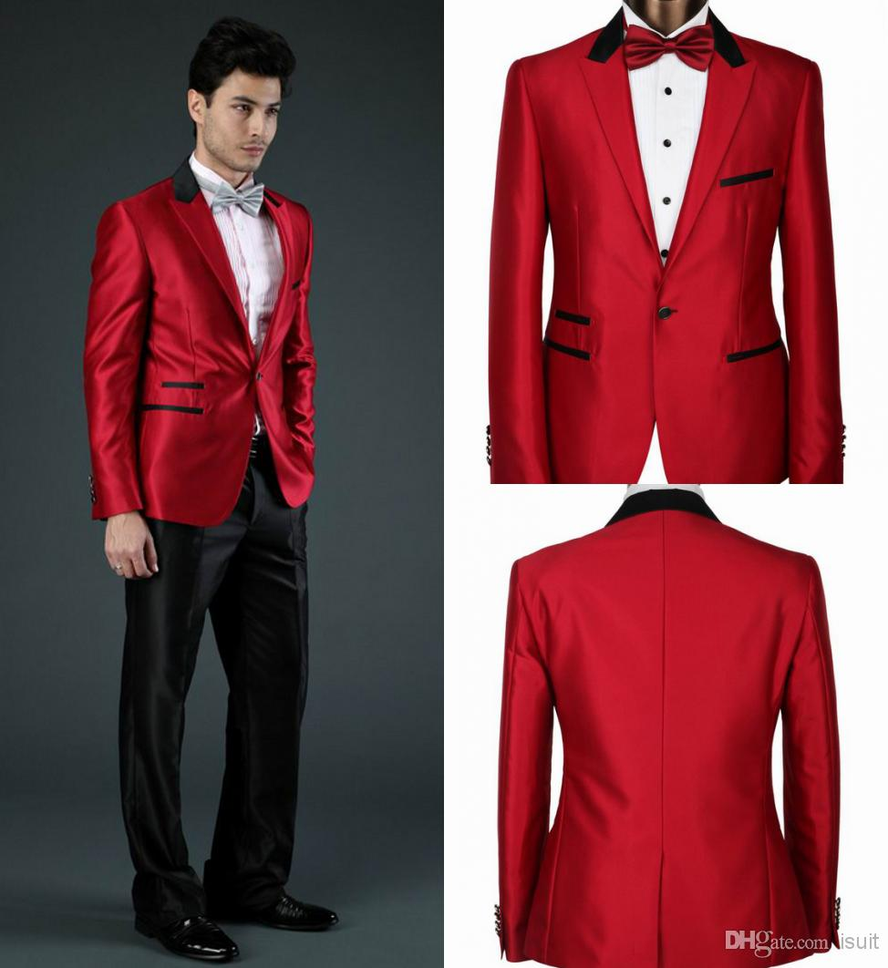 Prom Suits Black And Red Dress Yy
