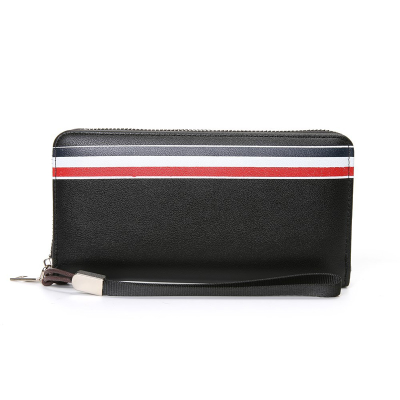Long Zipper Wallet Men Luxury Brand PU Leather Purse Men Coin Pocket Card Holder Wallet Cell Phone Wallets Business Male Clutch the construction of online automated students matching system