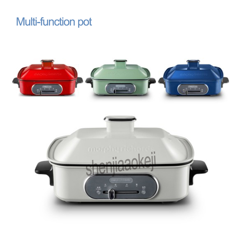 1pc Multi-function pot  Electric hot pot barbecue stove MR9088 Household frying pan 2.5L capacity  220v 1400w 1pc Multi-function pot  Electric hot pot barbecue stove MR9088 Household frying pan 2.5L capacity  220v 1400w