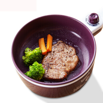 Household Small Electric Wok Non-stick Pan Frying Pan Plug In Breakfast Machine Electric Pot Omelette Egg Boiler Purple