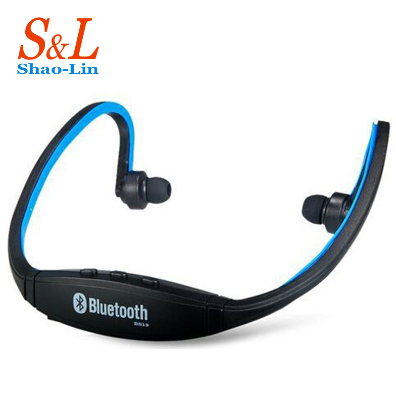 sports wireless bluetooth stereo headset neckband running headphone 2 sides earphone mic for. Black Bedroom Furniture Sets. Home Design Ideas