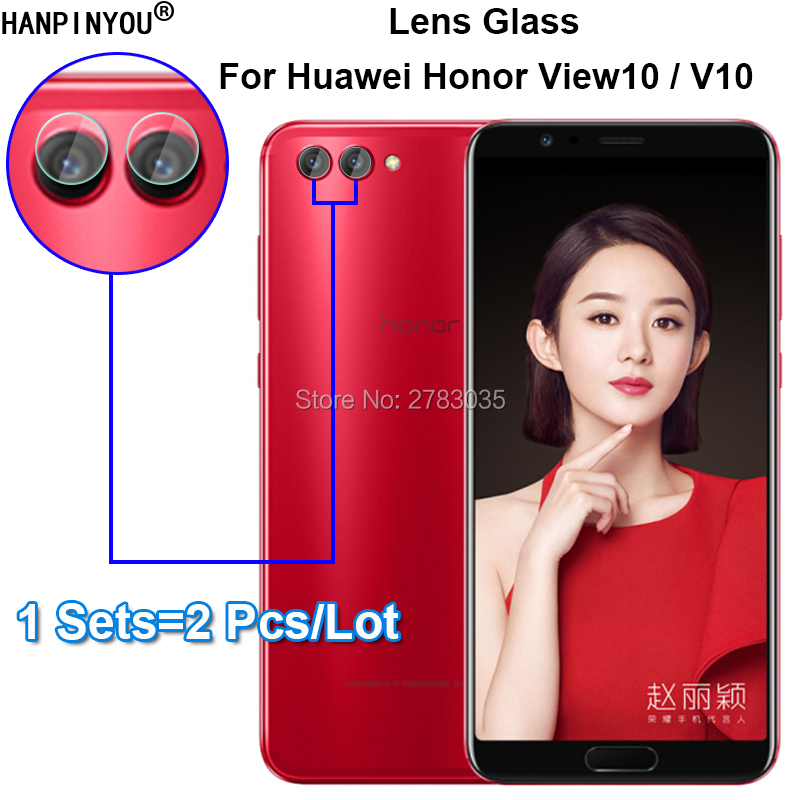 For Huawei Honor View 10 / V10 5.99 Clear Ultra Slim Back Camera Lens Protector Rear Camera Lens Cover Tempered Glass Film image