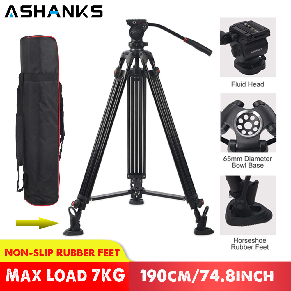 ASHANKS JY0508 0508A Professional Tripod for Camera Aluminum Tripod Stand DSLR Fluid Head Damping Tripods for