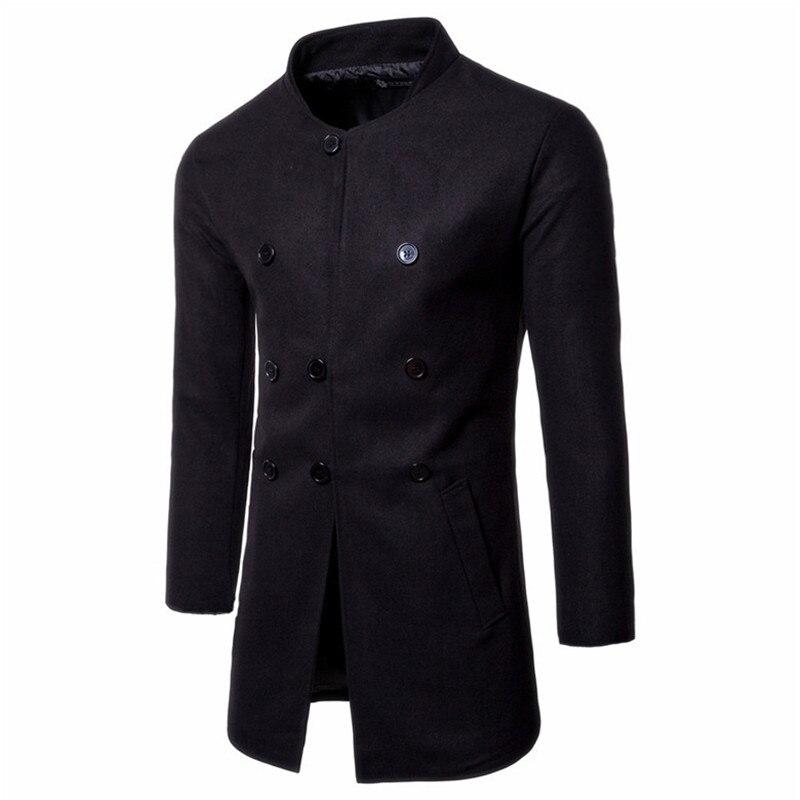 45a2c8850e4e9 New Autumn Sobretudo Masculinos Preto Cool Mens Coats Overcoats ...