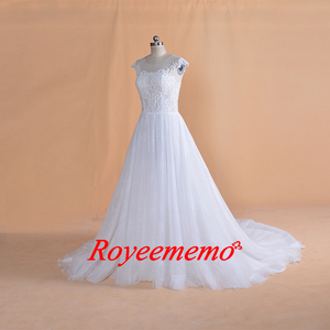 Image 2 - 2019 New Design lace Wedding Dress classic wedding gown real image factory made wholesale price bridal dress
