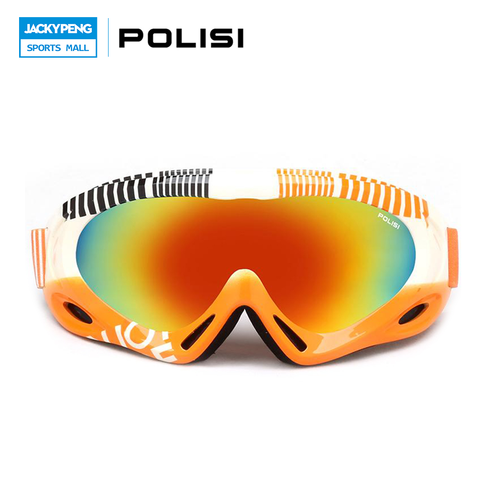 Prix pour POLISI Hommes Femmes Snowboard Ski Lunettes UV400 Anti-Brouillard Motoneige Skate Lunettes Hiver Coupe-Vent Montagne Ski Sport Lunettes