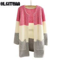 Hot Sale 2016 Women Sweaters Autumn Winter Casual Cardigan Fashion Knitted Solid Slim Sweaters Cardigans