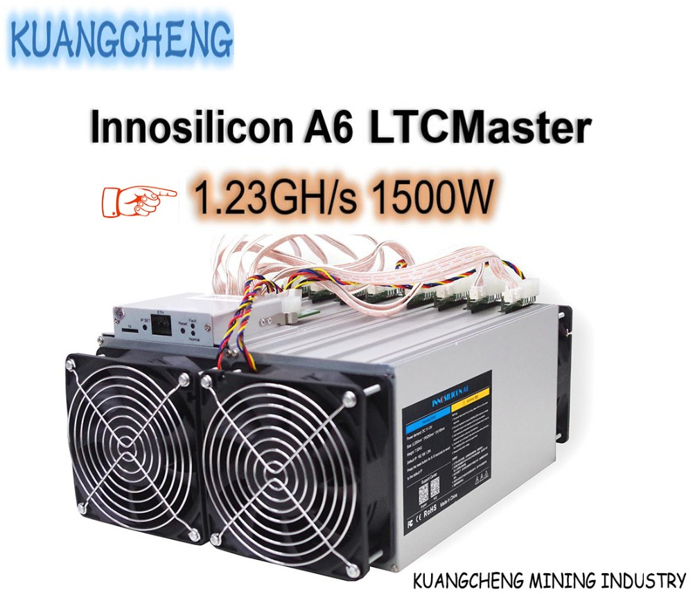 KUANGCHENG Mining Industry Sell LTC MINER Innosilicon A6 LTCMaster 1.23GH/s 1500W Better Than Antminer L3 + Innosilicon A4+