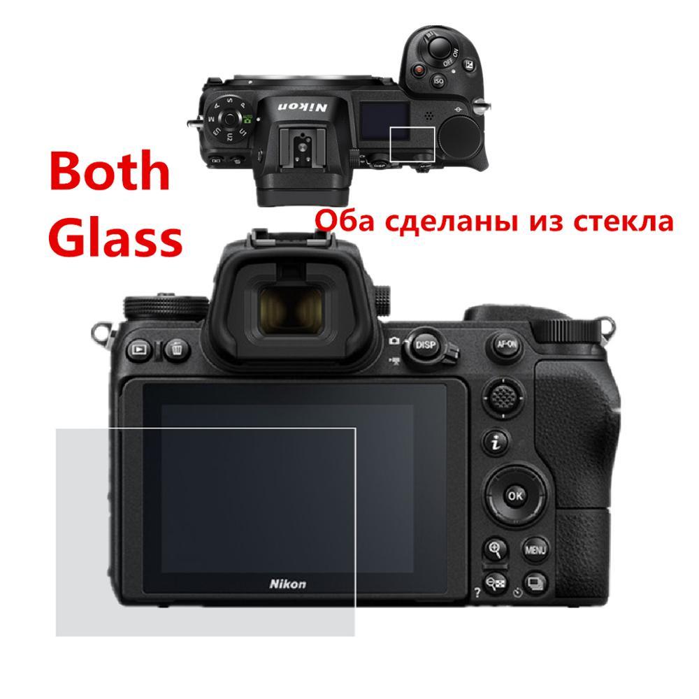Samoprzylepne główne LCD ochraniacz ekranu ze szkła + Info Top na ramię ochraniacz ekranu ze szkła osłona na Nikona Z7 Z6 Z 7 6 kamera