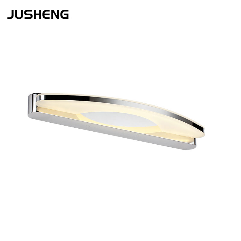 ФОТО 2017 High Quality 8W SMD2835 White LED Mirror Front Light Lamp Bathroom Wall Stainless Steel 220v AC in stock