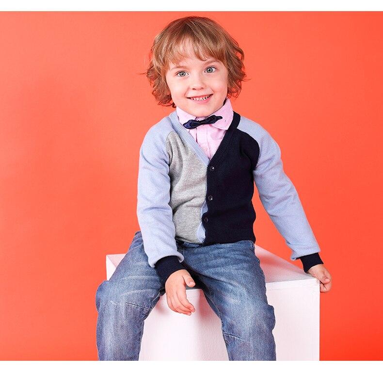 I.K Toddler boys sweater children warm knit kids casual cotton England orange multi-color top coat MO25021 Autumn Spring 2018 недорго, оригинальная цена
