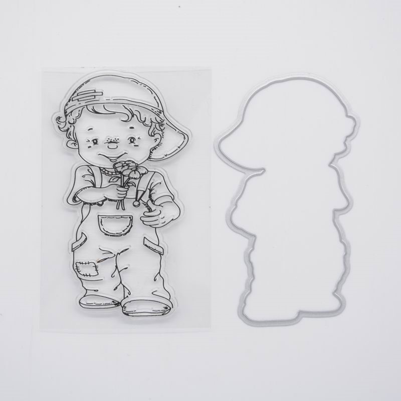 CS1143 Scrapbook DIY Photo Album Cards Transparent Acrylic Silicone Rubber Clear Stamps Sheet  6x6cm Cute boy 2016 new scrapbook diy photo album cards transparent acrylic silicone rubber clear stamps sheet enjoy