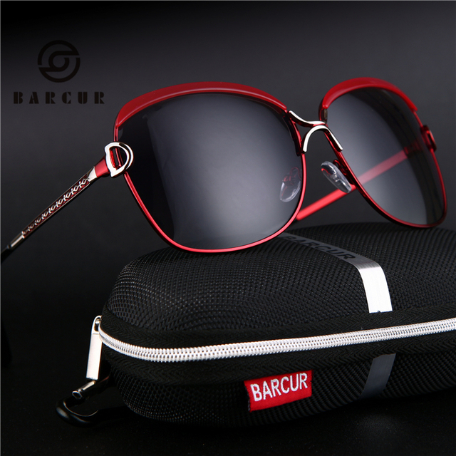 BARCUR Ladies Sunglasses Women Luxury Brand 2017 D Female Retro Fashion Sunglasses 2017 Polarized Style Sun glass
