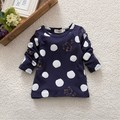 New StylishKids Boys Girls Long Sleeve Clothes Shirt Unisex Baby Polka Dots Blouse T-Shirt Cotton Tops