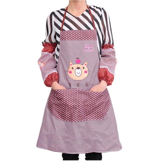 Durable Womens Kitchen Restaurant Bib Cooking As Pockets A 420