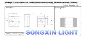 100 шт 1210 SMD SMT 3528 Светодиодный теплый белый источник питания Топ PLCC-2 лампа шарик SMD чип для всех видов светодиодный светильник